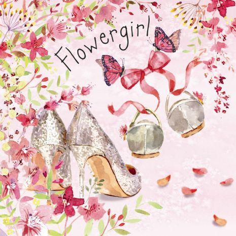 Flowergirl Cards. Wedding Cards. Cute Cards. Will You Be My Flowergirl Cards. Twizler.